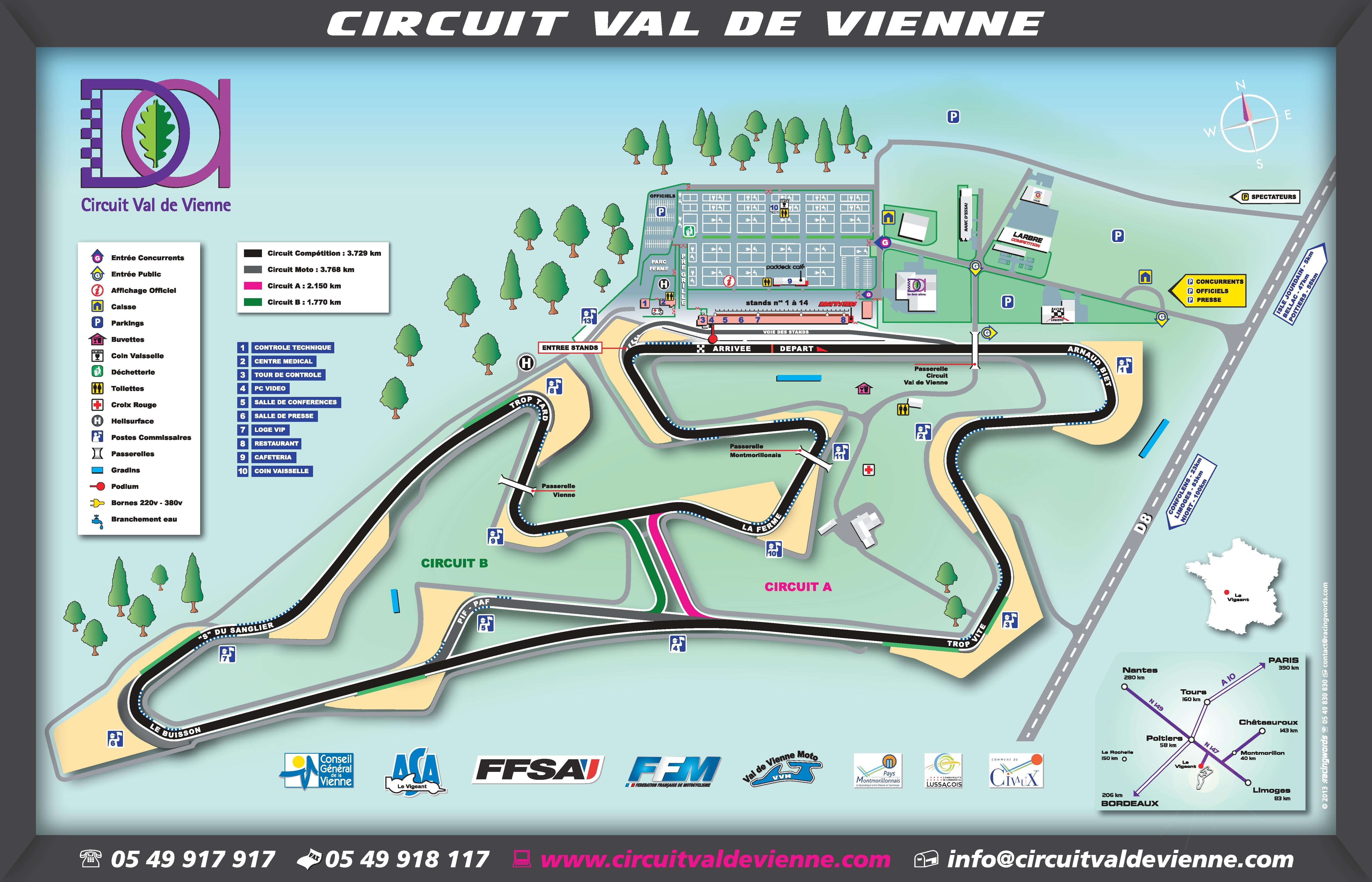 Déroulement Roulages VIP Moto Circuit